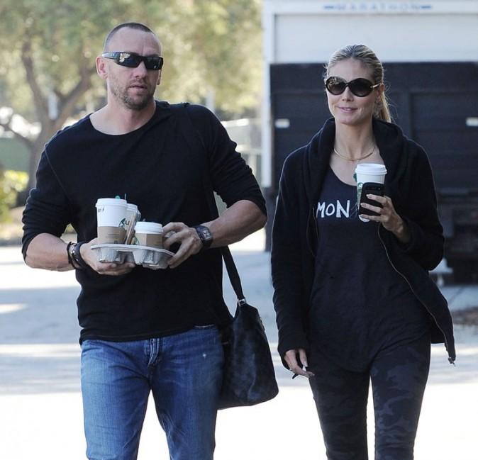 Heidi Klum avec Martin Kristen à Los Angeles le 10 mars 2013