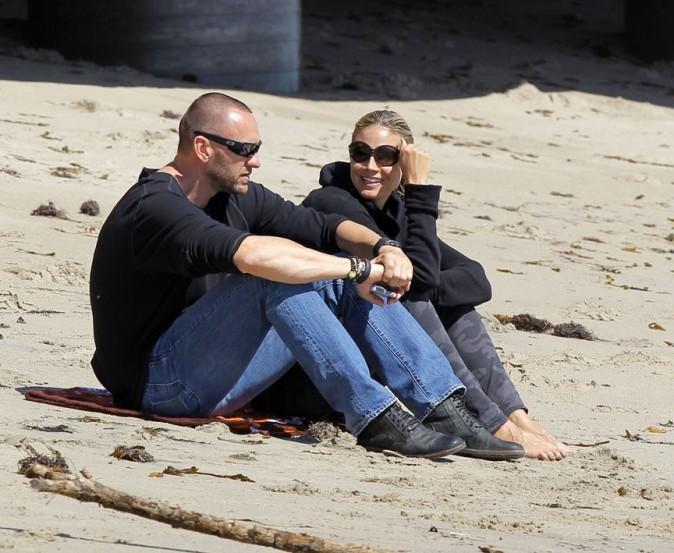Heidi Klum en famille sur une plage de Los Angeles le 10 mars 2013