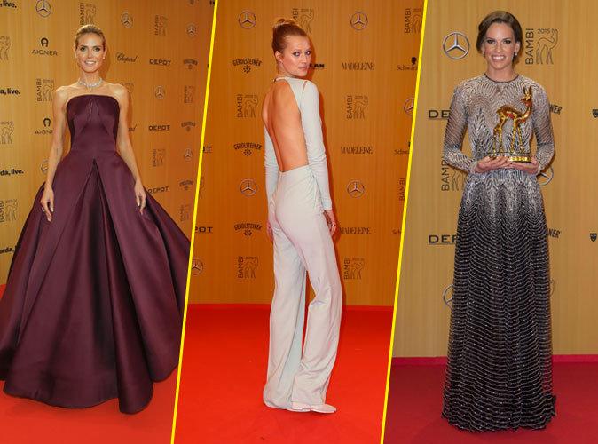 Photos : Heidi Klum, Toni Garrn, Hilary Swank… pluie de stars aux Bambi Awards !