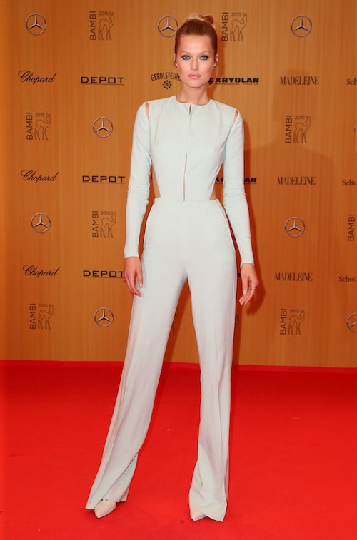 Toni Garrn à la cérémonie des Bambi Awards à Berlin, le 12 novembre 2015