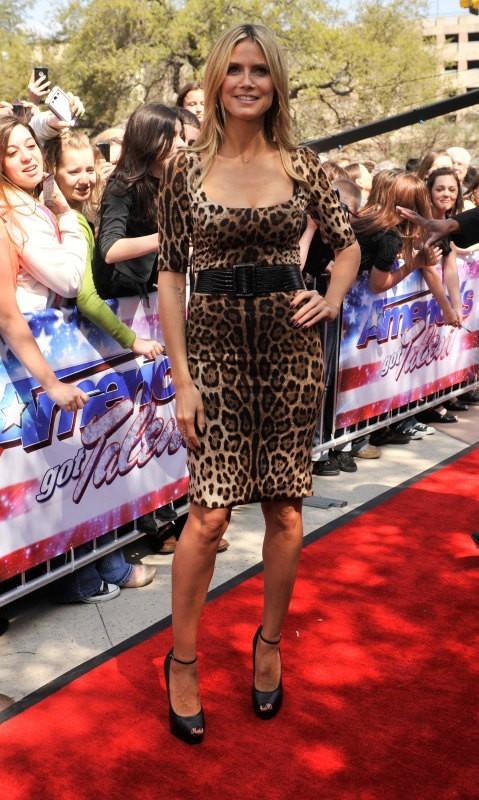 Heidi Klum lors des auditions d'America's Got Talent à San Antonio, le 20 mars 2013.