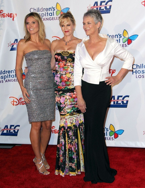 Heidi Klum, Melanie Griffith et Jamie Lee Curtis le 20 octobre 2012 à Los Angeles