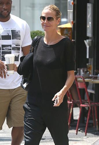 Heidi Klum à New York le 26 août 2014