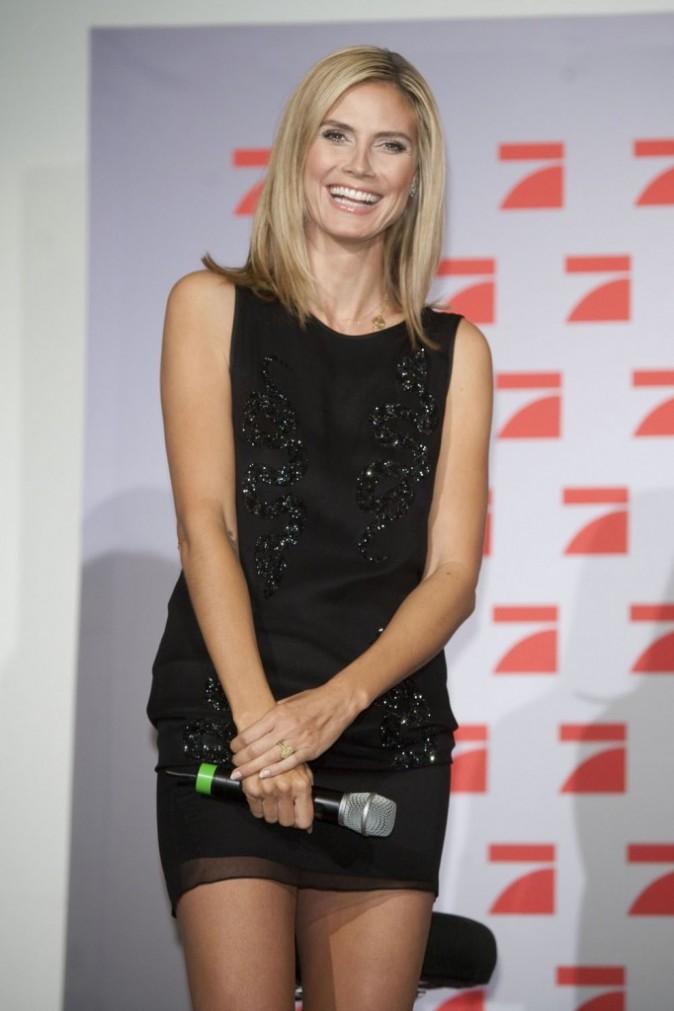 Heidi Klum à Cologne pour la promo de son émission Germany's Next Top Model, le 7 juin 2011.