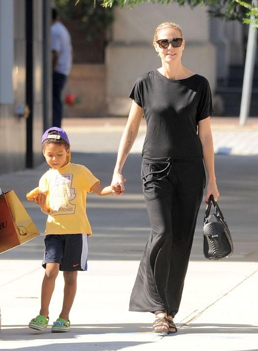 Heidi Klum en famille à New York, le 29 juin 2011.