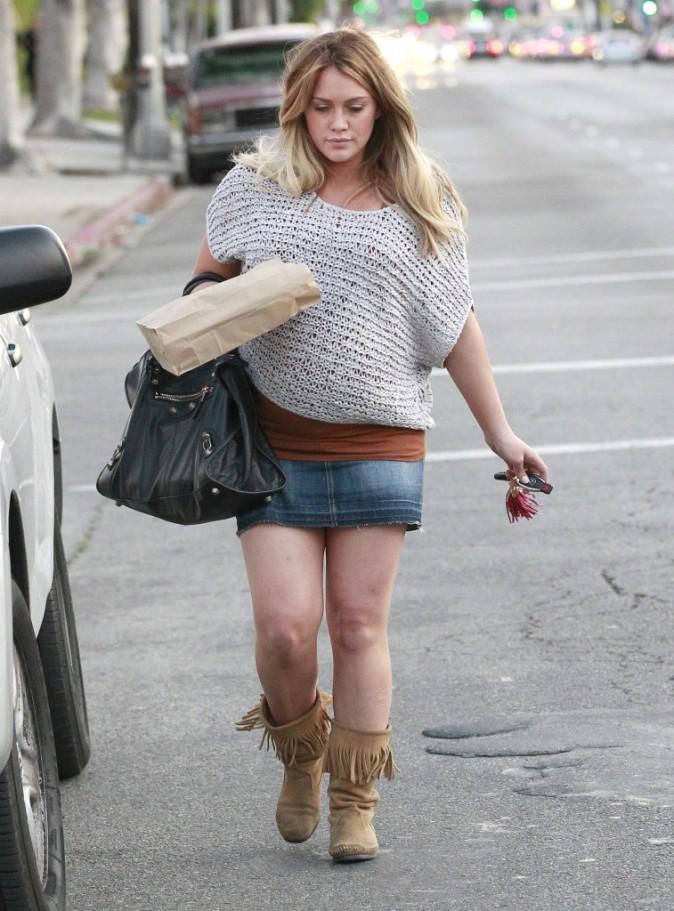 Hilary Duff à Los Angeles, le 14 février 2012.