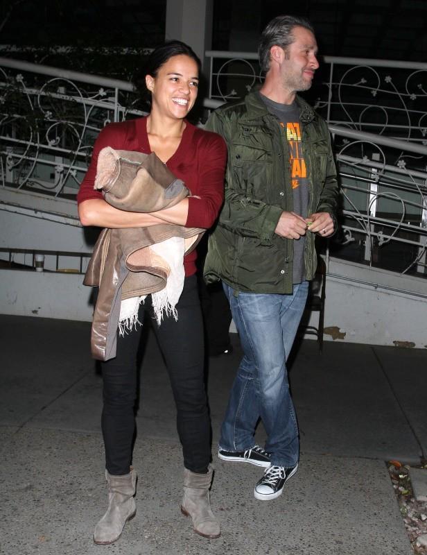 Michelle Rodriguez à la sortie de Madeo