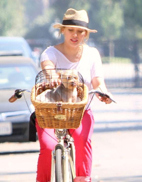 Hilary joue la carte de la sécurité avec sa petite cage ...