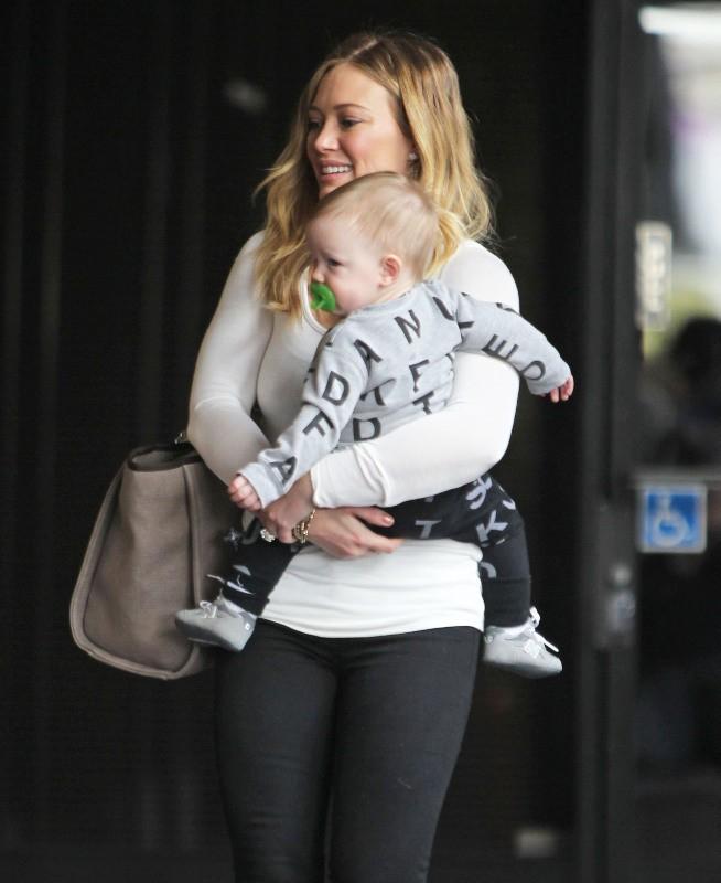 Hilary Duff et Luca, Sherman Oaks, 9 janvier 2013