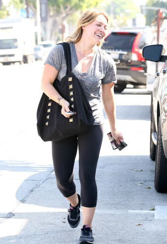 Hilary Duff à Los Angeles le 17 février 2014