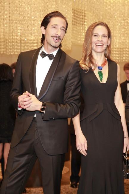 Hilary Swank et Adrien Brody le 17 janvier 2013 à Hong Kong