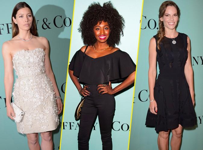 Hilary Swank, Inna Modja, Jessica Biel : toutes pr�sentes � l'inauguration de la boutique Tiffany & Co sur les Champs-Elys�es !