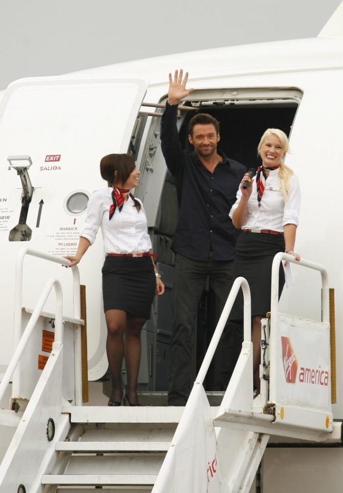 Le show sexy peut commencer dès la sortie d'avion !