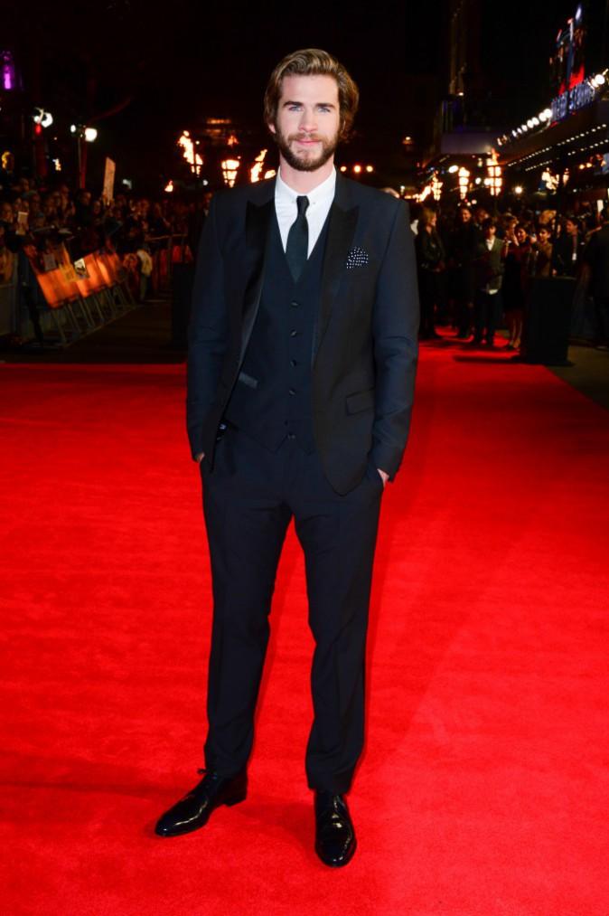 Liam Hemsworth assure la promo de Hunger games, le 10 novembre 2014 à Londres