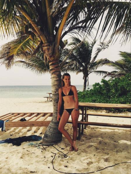Ilona Smet en vacances à Saint-Barth