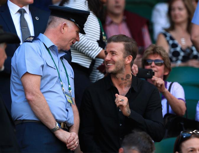 David Beckham le 6 juillet 2016 à Wimbledon