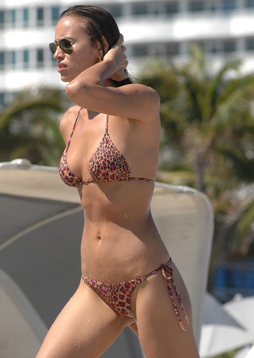 Irina Shayk en vacances à Miami le 21 juillet 2013