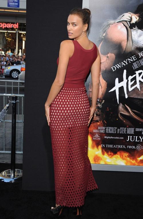 Irina Shayk à l'avant-première d'Hercule organisée à Los Angeles le 23 juillet 2014