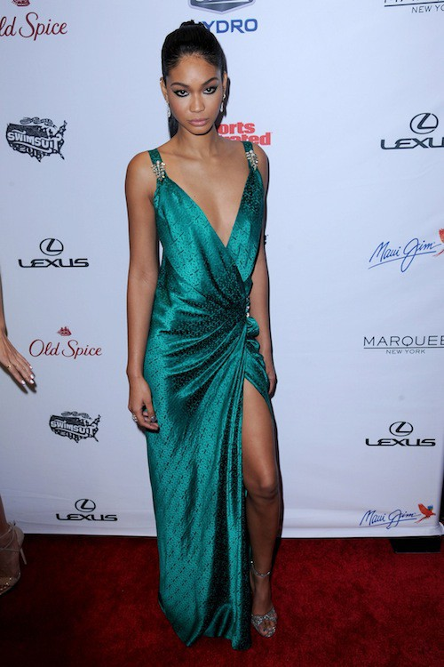 Chanel Iman à la soirée Sports Illustrated à  New York, le 10 février 2015