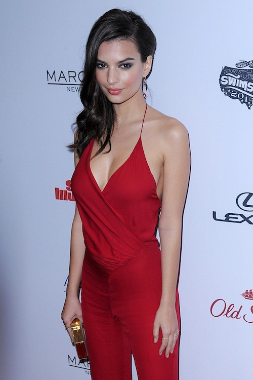 Emily Ratajkowski à la soirée Sports Illustrated à  New York, le 10 février 2015