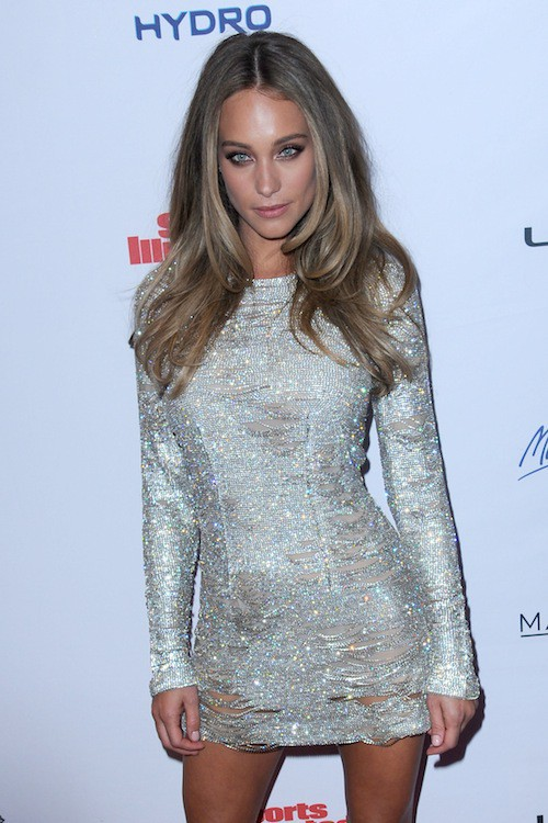 Hannah Davis à la soirée Sports Illustrated à  New York, le 10 février 2015