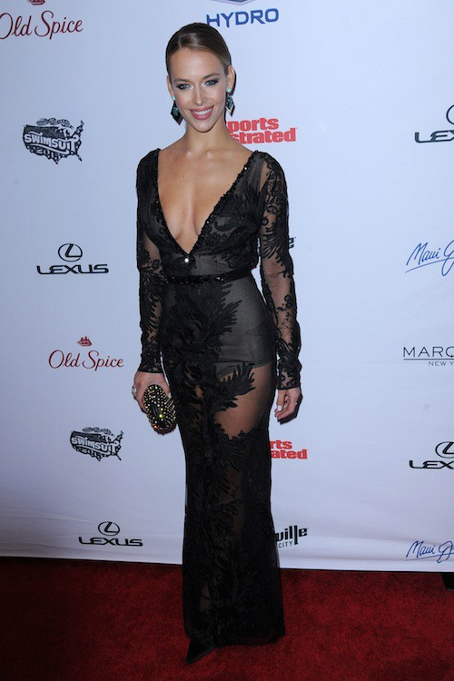 Hannah Ferguson à la soirée Sports Illustrated à  New York, le 10 février 2015