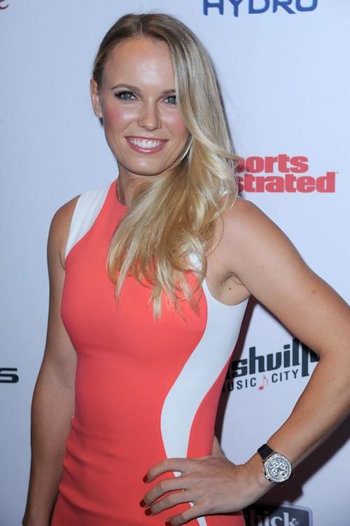 La joueuse de tennis Caroline Wozniacki à la soirée Sports Illustrated à  New York, le 10 février 2015