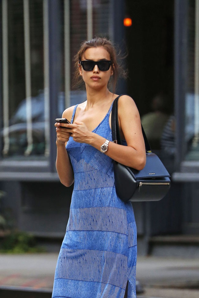 Irina Shayk à New-York le 28 juillet 2014
