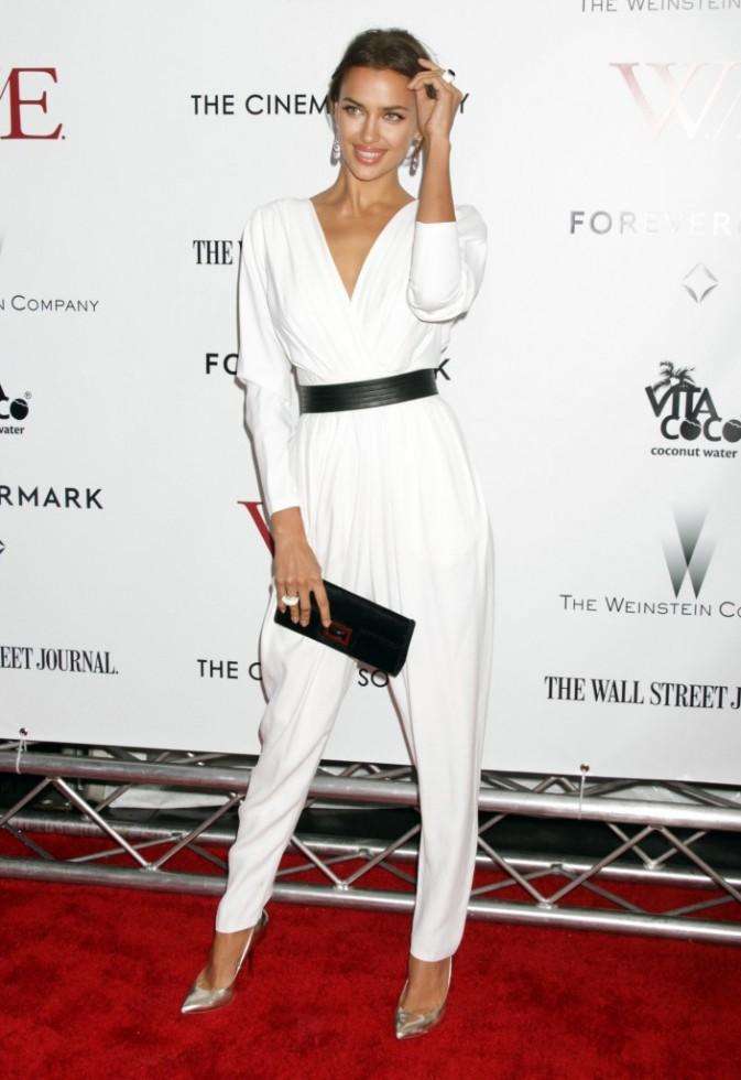 Irina Shayk lors de la première du film W.E. à New York, le 23 janvier 2012.
