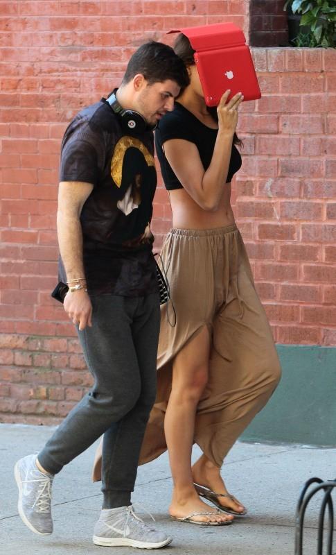 Irina Shayk dans les rues de New York, le 2 juin 2013.