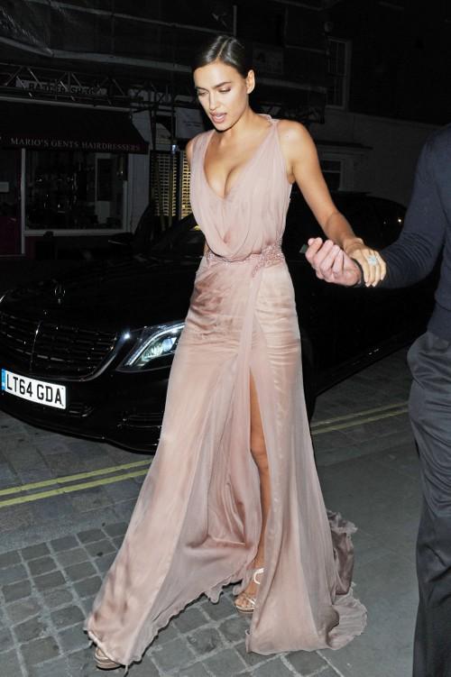 Irina Shayk à Londres le 26 mai 2015