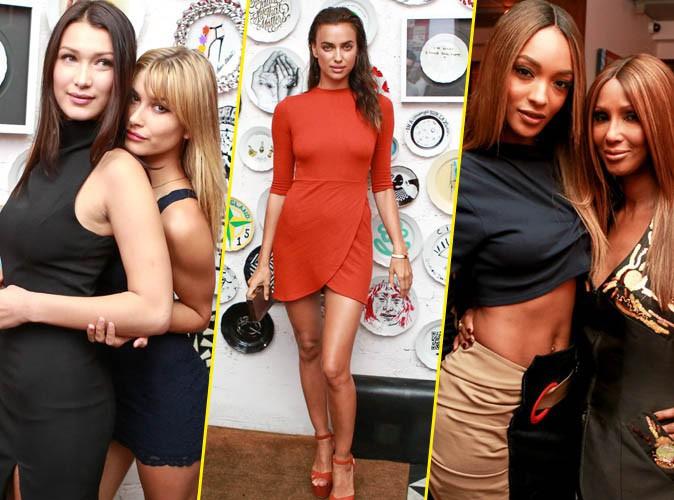 Bella Hadid, Hailey Baldwin, Irina Shayk, Jourdan Dunn et Iman à New York le 10 septembre 2015