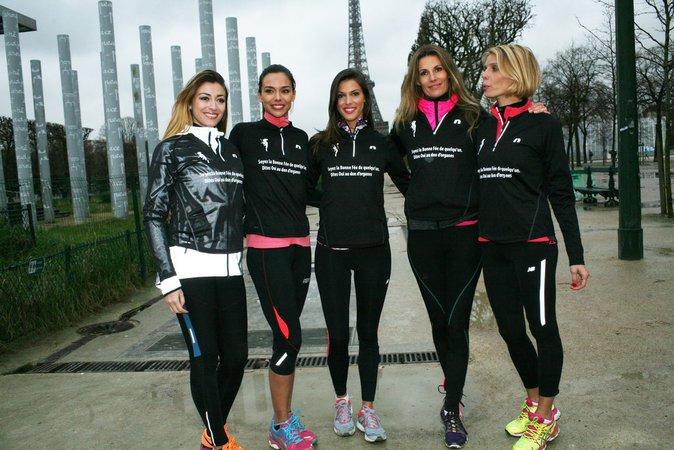 Rachel Legrain-Trapani, Marine Lorphelin,Iris Mittenaere, Sophie Thalmann, et la présidente du comité Miss France Sylvie Tellier