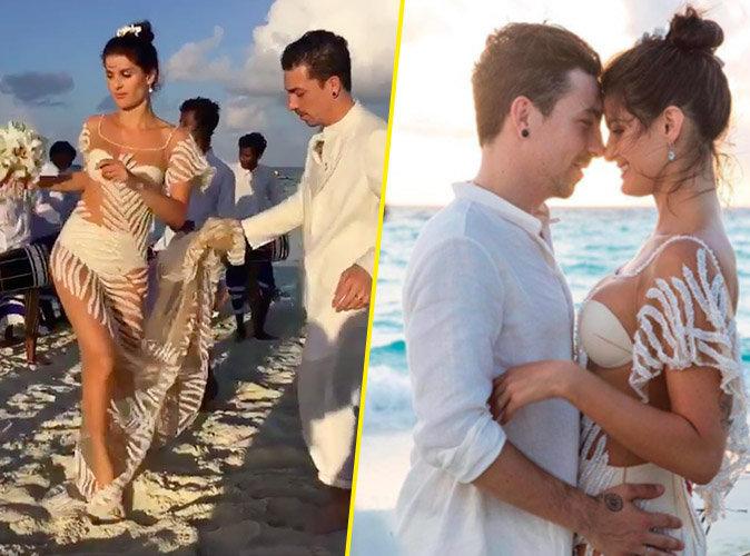 Photos : Isabeli Fontana : Robe transparente pour son 3e mariage !