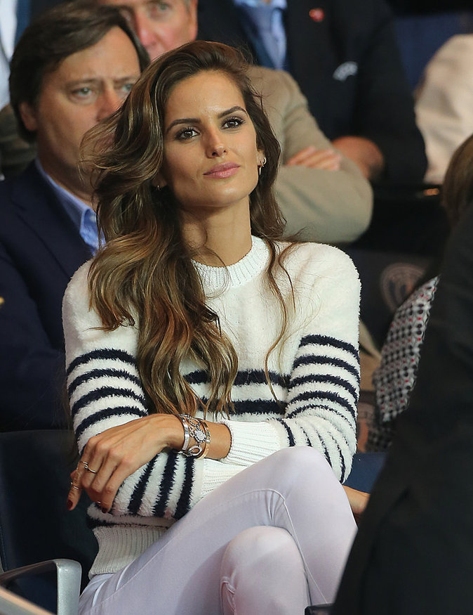 Izabel Goulart, la girlfriend de Kevin Trapp au match PSG - Arsenal au Parc des Princes le 13 septembre 2016