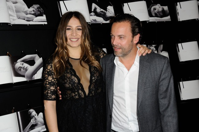 Izïa et Patrick Mille le 14 janvier 2013 à Paris