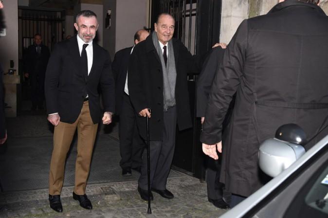 Jacques Chirac le jour de ses 82 ans à Paris (le 29 novembre 2014)