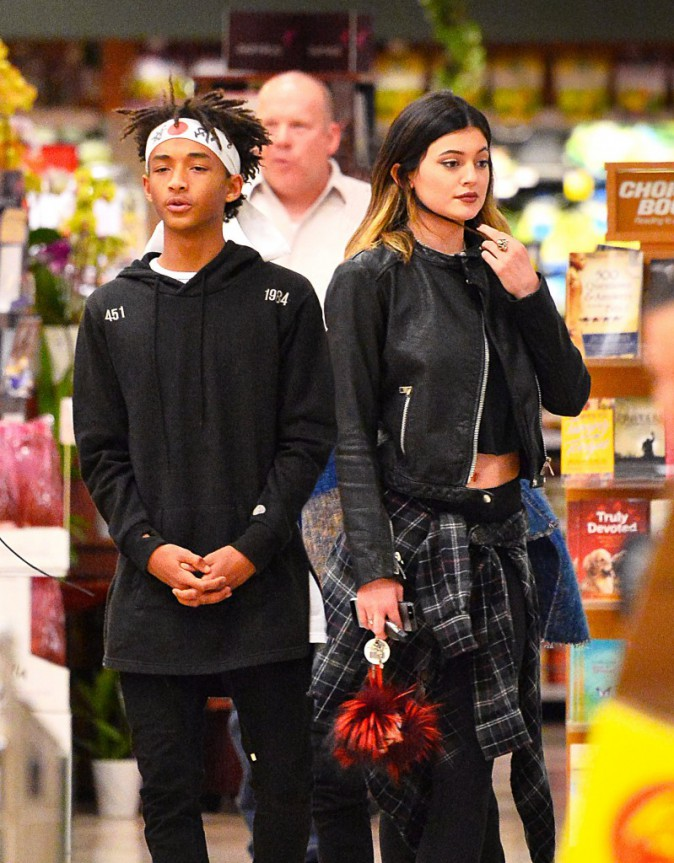 Jaden Smith et Kylie Jenner chez Ralph's Supermarket, le 9 mars 2014.