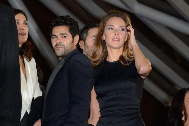 """Jamel Debbouze et Mélissa Theuriau lors de la première de """"Tel père, tel fils"""" au Festival International du Film de Marrakech, le 1er décembre 2..."""
