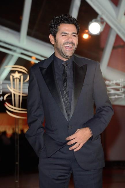 """Jamel Debbouze lors de la première de """"Tel père, tel fils"""" au Festival International du Film de Marrakech, le 1er décembre 2013."""