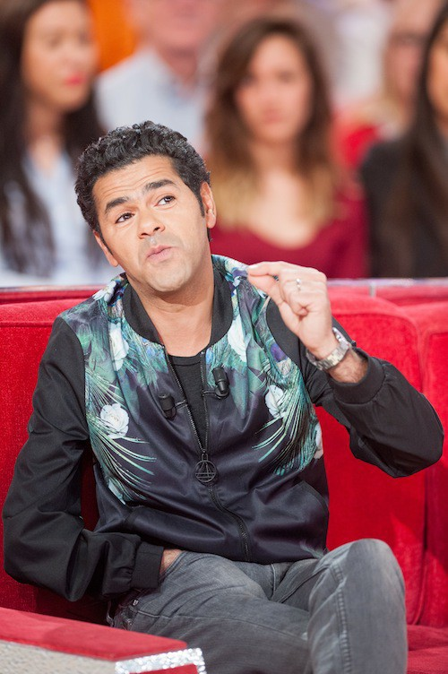 Jamel Debbouzze lors de l'enregistrement de Vivement Dimanche, le 25 mars 2015