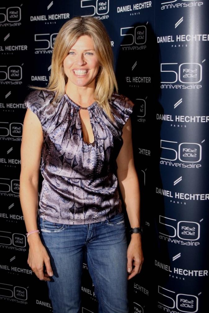 Lynda Lacoste lors de la soirée des 50 ans de la marque Daniel Hechter à Paris, le 14 février 2012.
