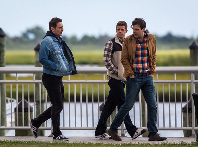 James Franco, Zachary Quinto et Charlie Carver à Long Island le 15 août 2014
