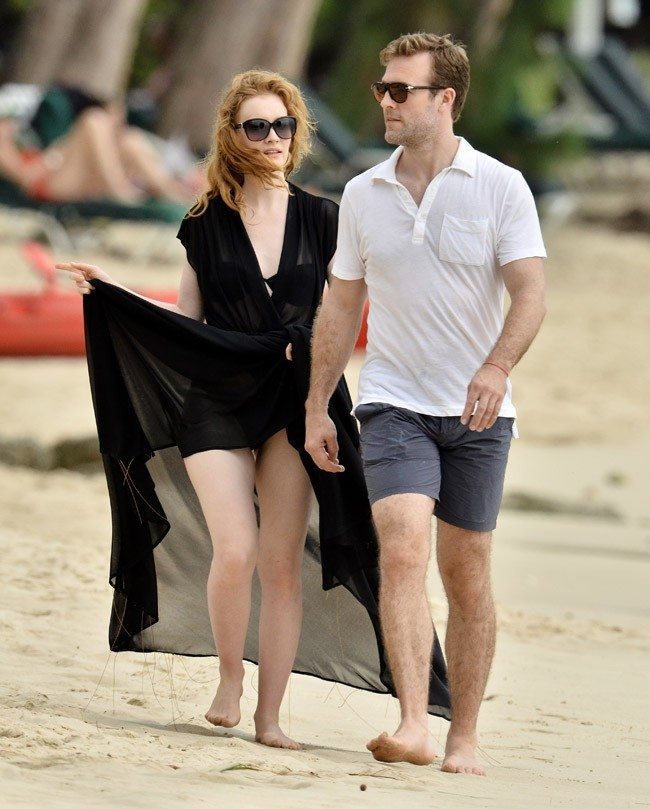 James Van Der Beek à la Barbade avec sa femme Kimberley le 27 mai 2013