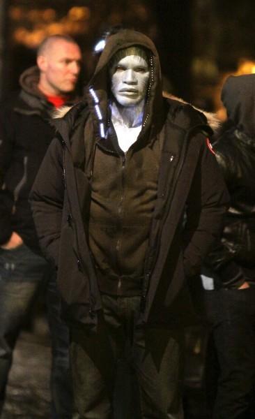 Jamie Foxx sur le tournage de The Amazing Spider-Man 2, New York le 15 avril 2013