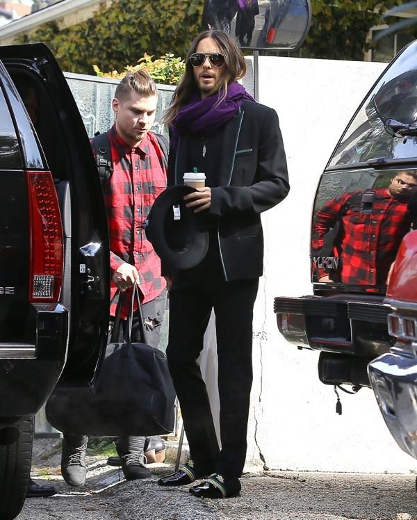 Photos : Jared Leto : le beau gosse ne met plus un pied dehors sans son Oscar !