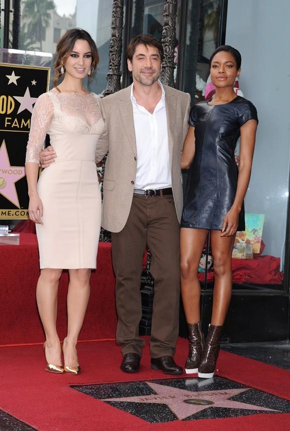 Javier Bardem sur le Walk of Fame d'Hollywood le 8 novembre 2012