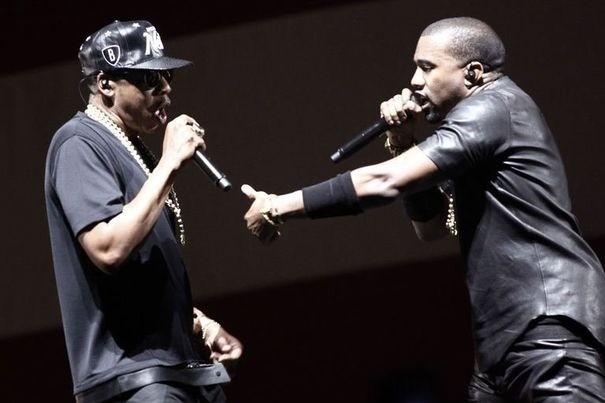 Jay-Z et Kanye West en concert à Paris, le 1er juin 2012.