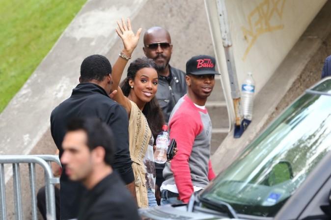 Kelly Rowland qui arrive à Bercy pour le concert de Kanye West et Jay-Z, le 1er juin 2012.