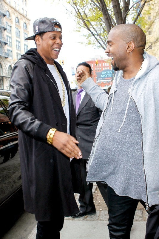 Jay-Z et Kanye West à New York, le 22 avril 2013.